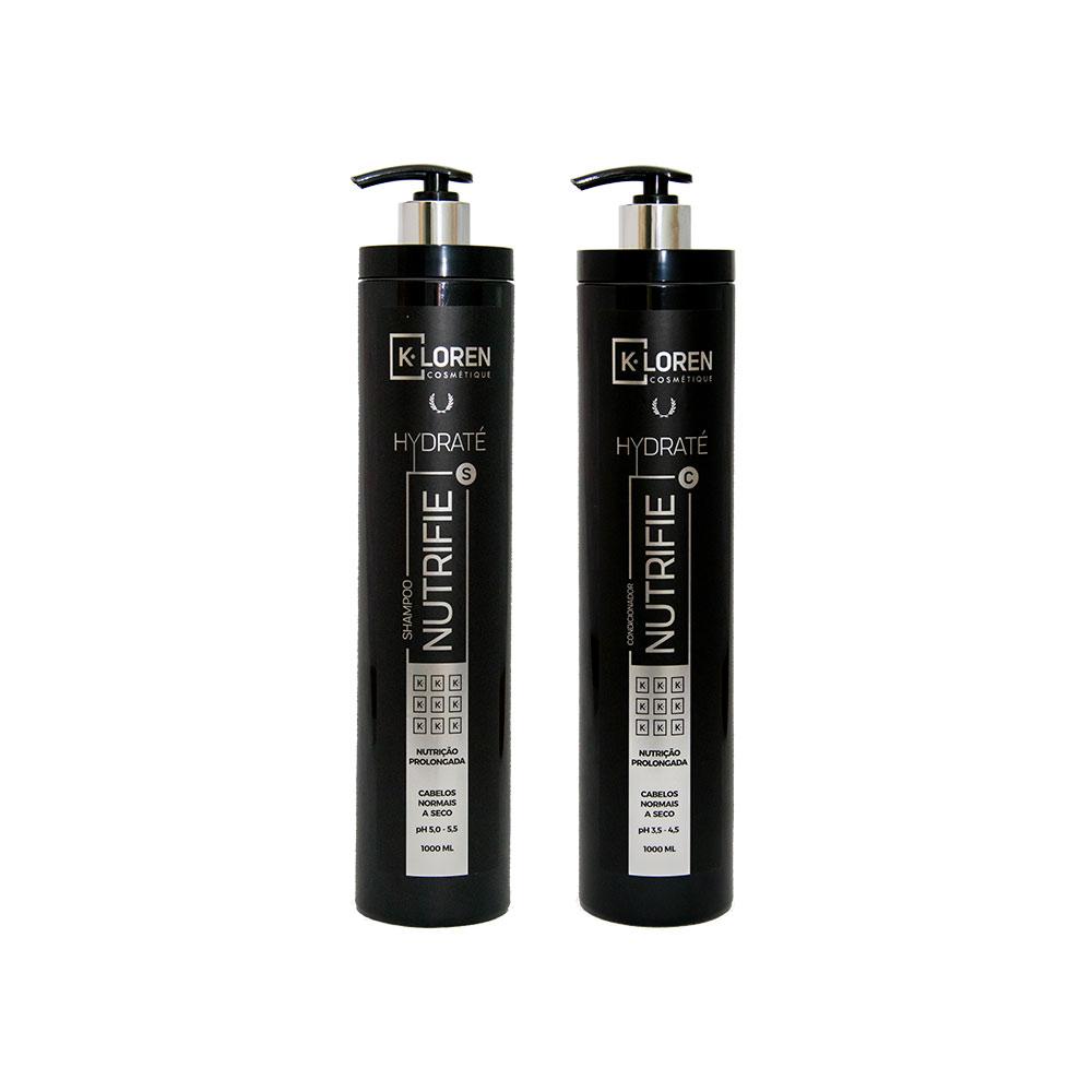 K-Loren Cosmétique - Linha Hidraté - Shampoo e Condicionador 1L