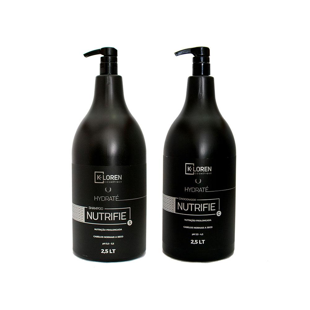 K-Loren Cosmétique - Linha Hidraté - Shampoo e Condicionador 2,5L