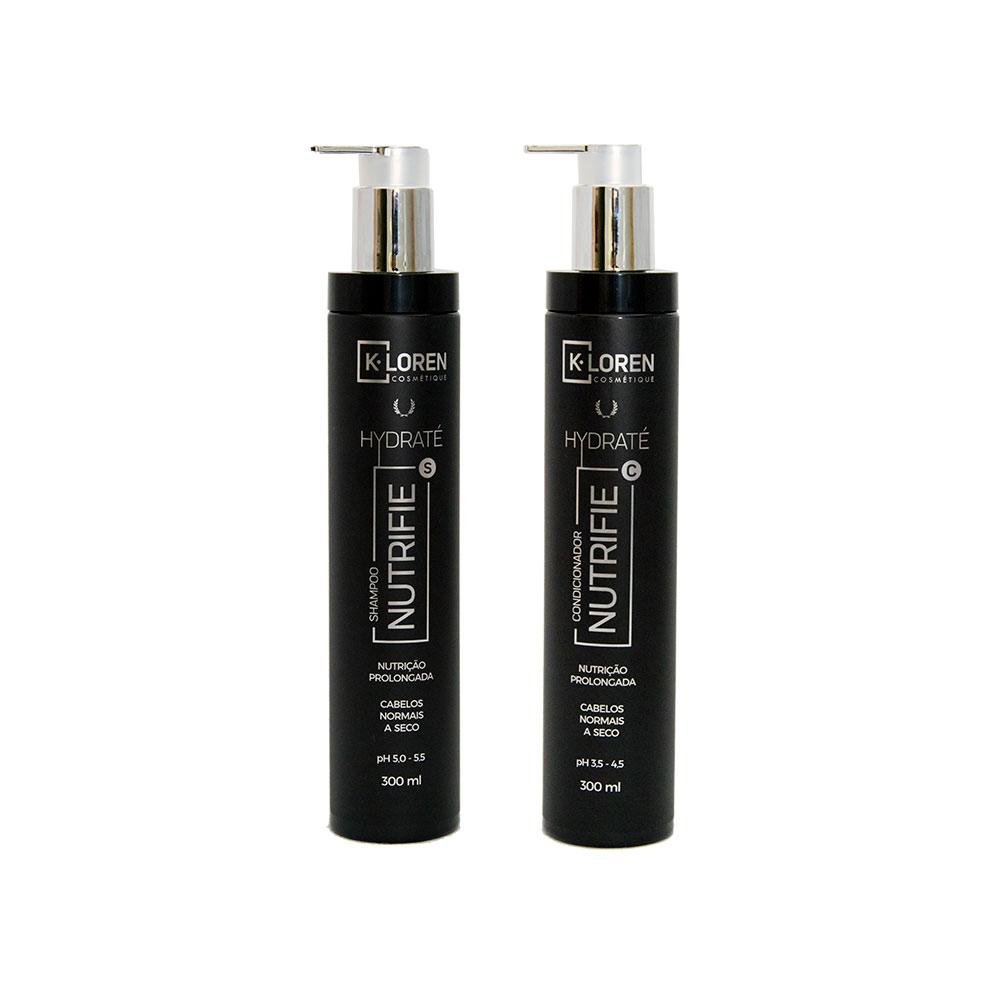 K-Loren Cosmétique - Linha Hidraté - Shampoo e Condicionador 300ml